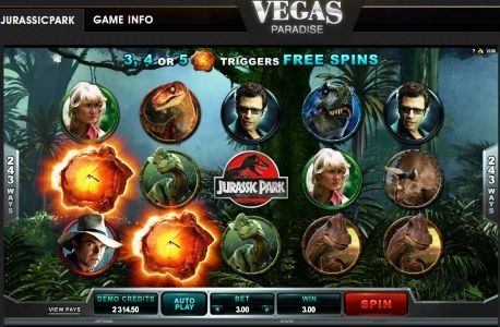 Jurassicpark Slot Machine at VegasParadise.com